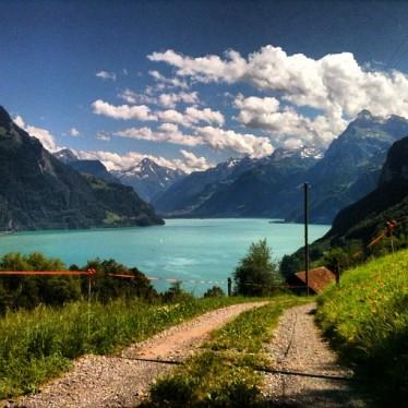 swiss landscape lake